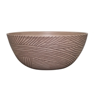 Northcote Pottery 35 x 15cm Soft Rust Linear Bowl