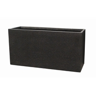 Northcote Pottery 60 x 24 x 30cm Black Precinct Lite Terrazzo Trough
