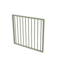 Protector Aluminium 975 x 900mm Flat Top Garden Gate - To Suit Self Closing Hinges - Pale Eucalypt