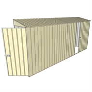 Build-a-Shed 0.8 x 4.5 x 2m Hinged Door Tunnel Shed with Single Sliding Side Door - Cream