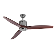 Arlec ABS 3 Blade 130cm Ceiling Fan With Dark Timber Finish Blades