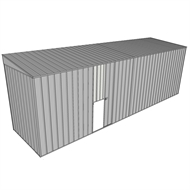 Build-a-Shed 1.5 x 6 x 2m Single Sliding Side Door Skillion Shed - Zinc