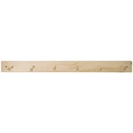 Perma Products Natural Pine Hook Board With 6 Hooks