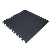 Polytuf 50 x 50cm Solid Black Foam Mats - 4 Pack