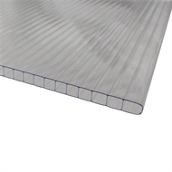Suntuf Sunlite 8mm x 610mm x 2.4m Clear Twinwall Polycarbonate Roofing