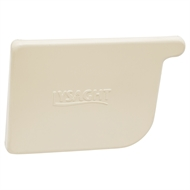 COLORBOND 115mm LH Quad Gutter Stop End - Classic Cream