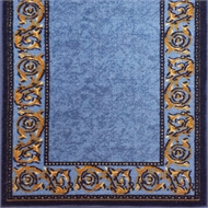 Ideal DIY 67 x 294cm Gold Leaf Blue Loop Pile Carpet Runner