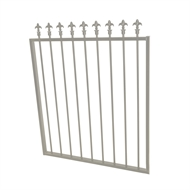 Protector Aluminium 975 x 1200mm J Spear Top Garden Gate - To Suit Gudgeon Hinges - Paperbark