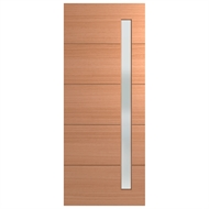 Hume Doors & Timber 2340 x 1200 x 40mm Xlr120 Clear Linear Entrance Door