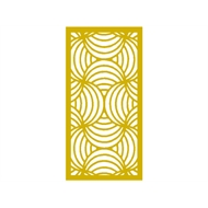 Protector Aluminium 1200 x 2400mm ACP Profile 10 Decorative Panel Unframed - Light Yellow