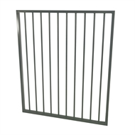 Protector Aluminium 975 x 1200mm Flat Top Ulti-M8 Pool Gate - Woodland Grey