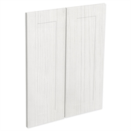 Kaboodle White Forest Alpine Corner Wall Cabinet Doors - 2 Pack