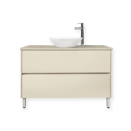 Forme 900mm Hogsbristle Colourstone / Hogsbristle Quay Organic Floor Vanity