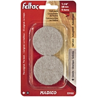 Madico 48mm Beige Round Feltac Floor Protection Pad - 4 Pack