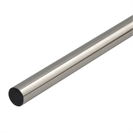 Pillar 3.0m 16mm Brushed Chrome Curtain Conduit