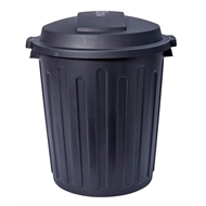Willow 75L Black Rubbish Bin With Dome Lid