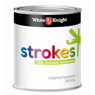 White Knight Strokes 250ml Gloss Cherry Red Interior Paint