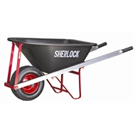 Sherlock 100L Premium Poly Tray Wheelbarrow