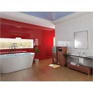 Bellessi 300 x 1200 x 4mm Polymer Bathroom Panel - Hot Rod