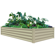 The Organic Garden Co 200 x 100 x 41cm Paperbark Rectangular Raised Garden Bed