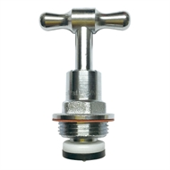 Kinetic 20mm Chrome Garden Tap Top Assembly