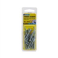 Zenith 8g x 38mm Zinc Plated Hinge-Long Thread Timber Screws - 25 Pack