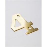 Sandleford 50mm 4 Brass Numeral