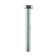 Pinnacle M6 x 50mm Zinc Plated Bolt And Nut - 3 Pack