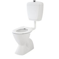 Caroma Cosmo Sovereign Care Pan Concealed Trap Toilet Suite With Caravelle Care White Double Flap Seat
