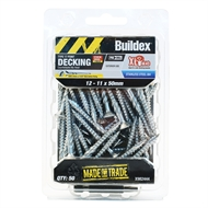 Buildex 12 - 11 x 50mm Stainless Steel Type 17 Decking Screws - 50 Pack