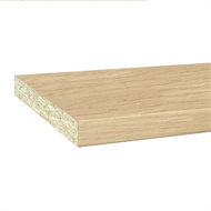 InBuilt Colourboard 1800 x 445 x 16mm Tibetan Oak E1l Melamine Sheet