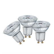 OSRAM Daylight 7W 575Lm Gu10 Glass LED Globe - 3 Pack