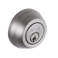 Schlage Satin Nickel Regent Series Denver Single Cylinder and Turn Deadbolt