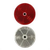 Brutus Red / White Round Reflector - 2 Pack