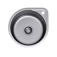 Clark Round Overmount Stainless Steel Sink Tap Landing 1TH