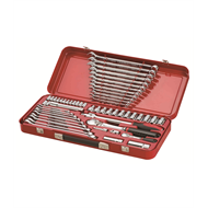Sidchrome 56 Piece 1/4″ And 1/2″ Metric / AF Drive Socket And Spanner Set