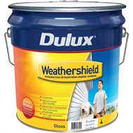 Dulux Weathershield 15L Gloss Vivid White Exterior Paint