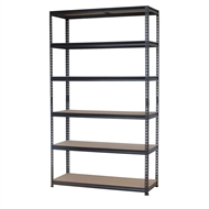 Pinnacle 2090 x 1200 x 460mm Black 6 Tier Adjustable Shelving Unit