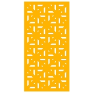 Protector Aluminium 600 x 900mm Profile 29 Decorative Unframed Panel  - Dark Yellow
