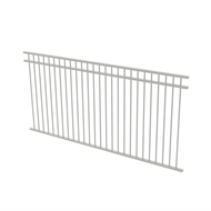 Protector Aluminium 2450 x 1200mm Double Top Rail All Up Ulti-M8 Fence Panel - Surfmist