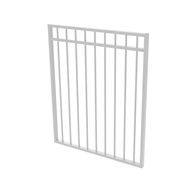 Protector Aluminium 975 x 1200mm Double Top Rail All Up Garden Gate - To Suit Gudgeon Hinges - Pearl White