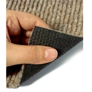 Ideal DIY 67cm Beige Oxford Ribbed Carpet Runner - Linear Metre