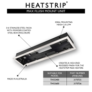 Heatstrip 3600W Max Radiant Outdoor Heater