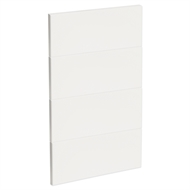 Kaboodle 450mm Gloss White Modern 4 Drawer Panels