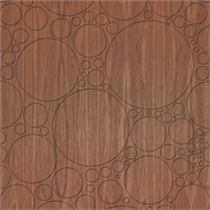 Easycraft 2400 x 1200 x 10mm American Walnut Circles - Expression Series
