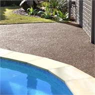 Pour-in-Place 1.5m2 Cocoa Brown Wetpour Rubber Surfacing