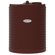 Polymaster 4500L Tall Round Corrugated Poly Water Tank - Heritage Red