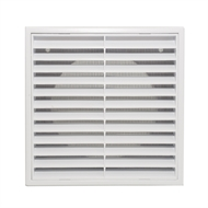 Builders Edge 125mm White Grill Vent with Insect Screen