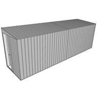 Build-a-Shed 1.5 x 6 x 2m Sliding Door Tunnel Shed without Side Doors - Zinc