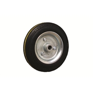 Ambassador 160mm Black Rubber Tyre With Silver Metal Centre